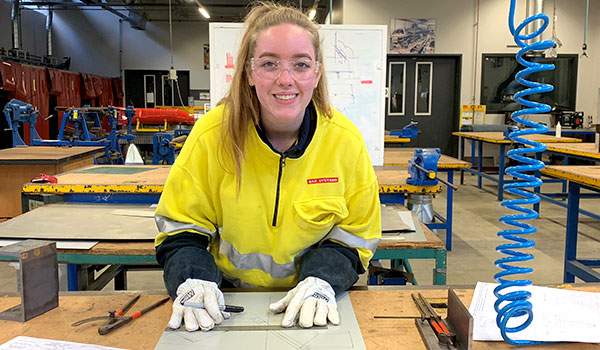 BAE apprentice Alyssa Vincenzi