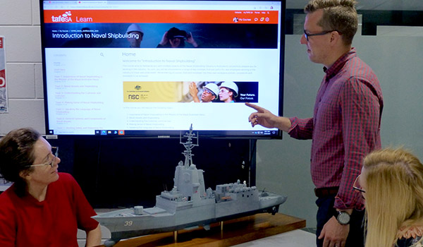 TAFE SA offers an online course called Introduction to Naval Shipbuilding
