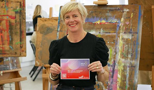 Visual artist and TAFE SA graduate, Rebecca McEwan