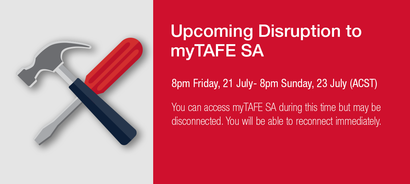 MyTAFE SA disruption 21 July